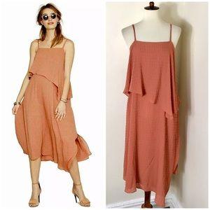 Hatch layered midi dress